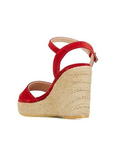 Divarese Divarese 5025394 Bantlı Topuklu Renkli Kadın Sandalet Kırmızı